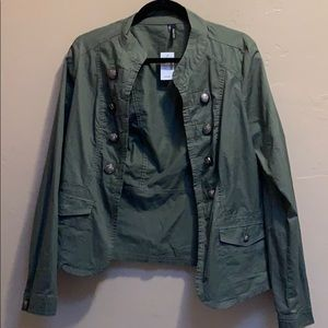 Olive green army style jacket